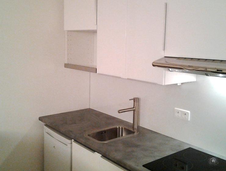 Rénovation d'une cuisine avec nouveau mobilier