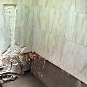 rénovation salle de bain dépose baignoire et plomberie