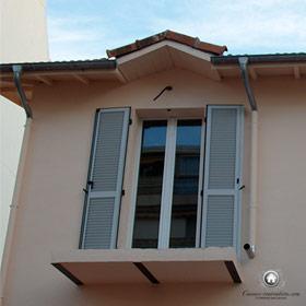 détail balcon avant pose garde-corps