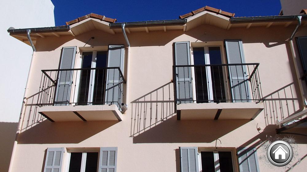 Pose de ferronerie sur des balcons à Cannes - Fin de chantier