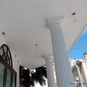 modification de l'éclairage extérieur de la façade et sur la terrasse