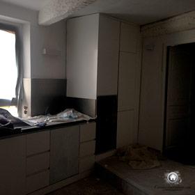 démolition de l'ancienne cuisine