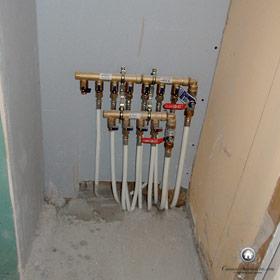distribution du réseau d'eau dans l'appartement