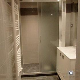 rénovation de la salle de bain avec douche à l'italienne